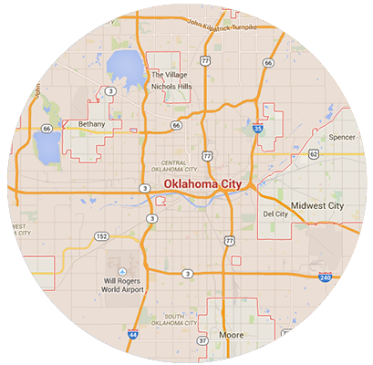 Oklahoma City Garage Door Service Areas