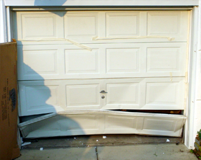 Damaged-garage-door-Panels