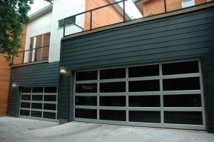 contemporary style glass garage door oklahoma city ok